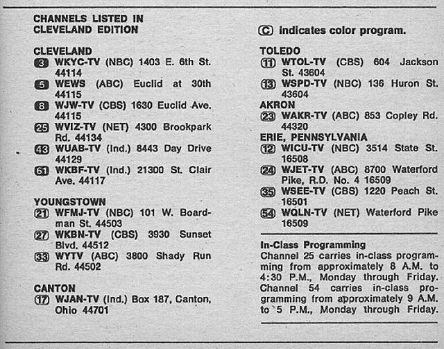 Cleveland Edition March 7 1970 Tv Guide Tv Guide Listings Cleveland