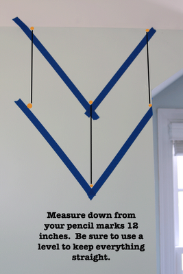 Great directions for laying out a chevron pattern with tape ...