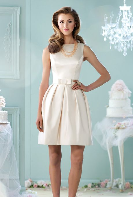 50 Short Wedding Dresses You Can Buy Now | Satin, Short wedding ...
