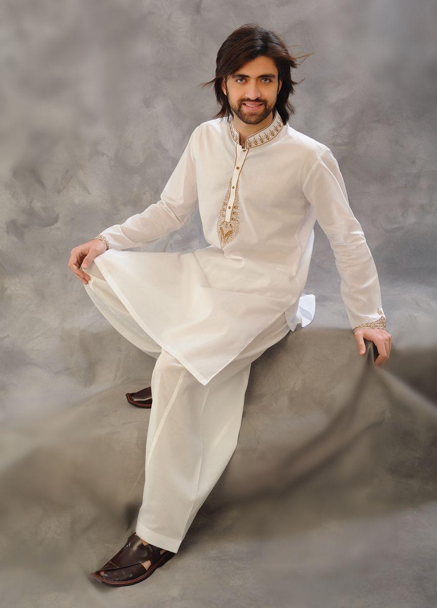15 Latest Fashion Trends in Men Salwar Kameez - Dresses ...  |White Salwar Kameez Designs For Men
