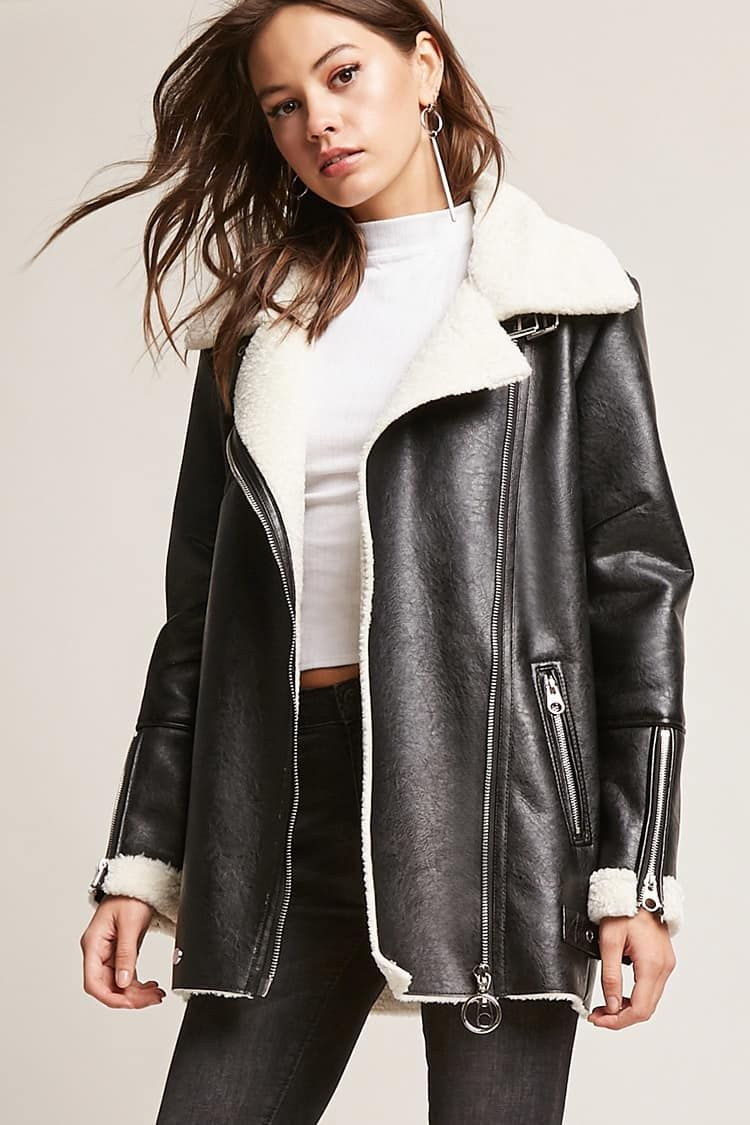 Product NameFree Generation Faux Leather & Shearling