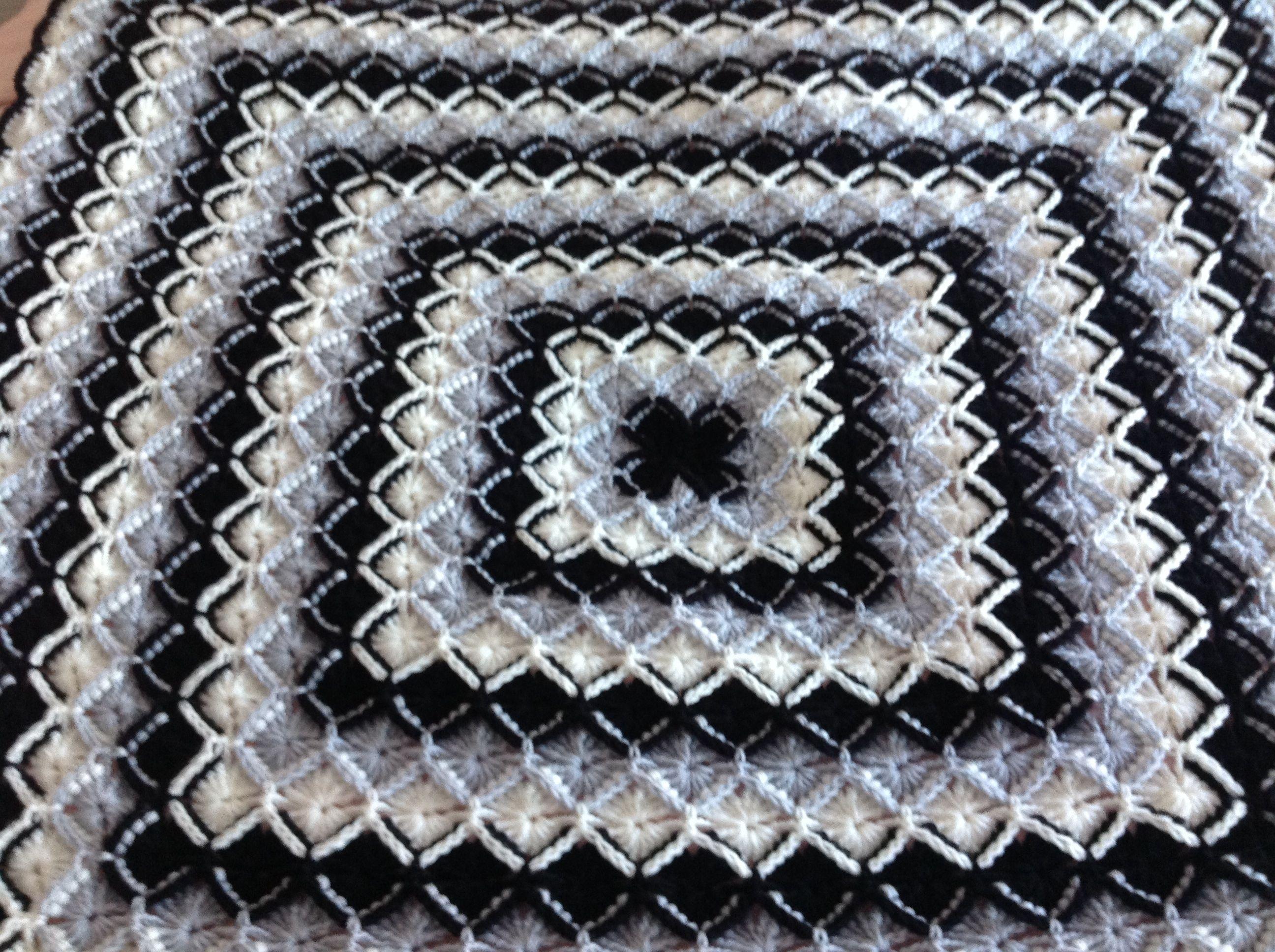 Bavarian crochet in black, gray, and white …   Pinterest