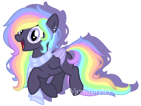 Black and Rainbow oc, I know. Shoot me. by yazmen10