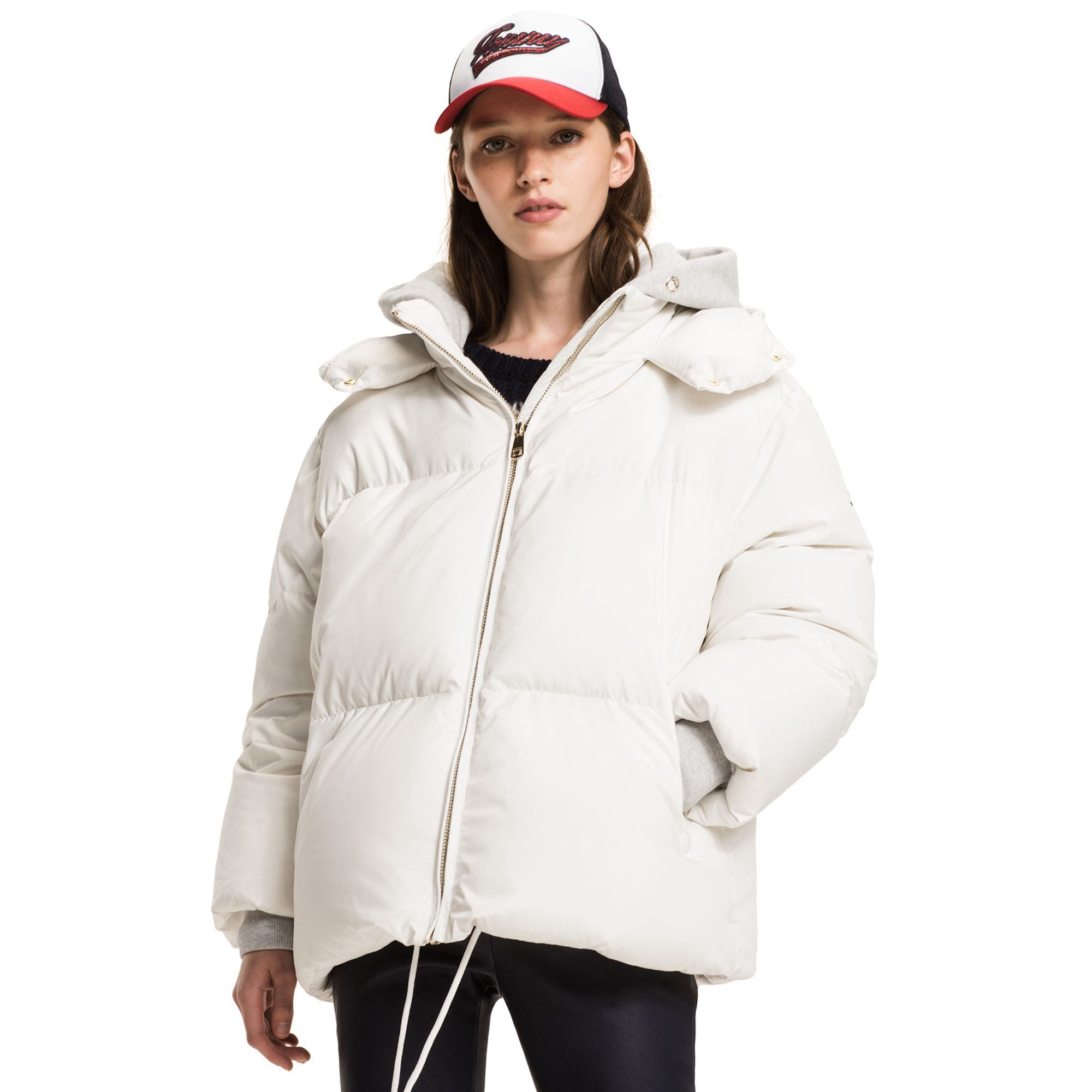 Tommy Hilfiger Detachable Hood Puffer Coat Snow White Tommyhilfiger Cloth Tommy Hilfiger Womenswear Fashion Tommy Hilfiger Outfit [ 2000 x 2000 Pixel ]