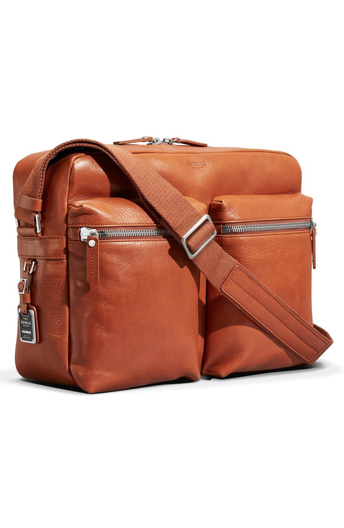 Free Shipping And Returns On Shinola Zip Top Leather Messenger Bag At Nordstrom This Handsome American Made Inspired By Vintage