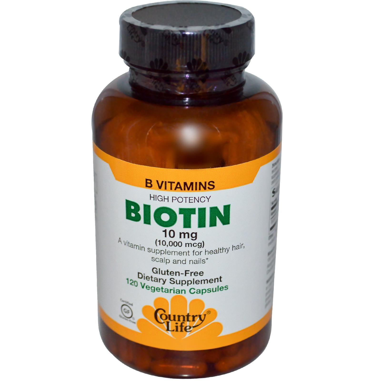 Country Life Biotin 10 Mg 120 Veggie Caps Discontinued Item