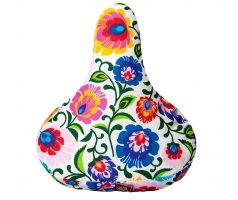 Reversible & Rainproof saddle cover Bike Belle, Folk 2in1