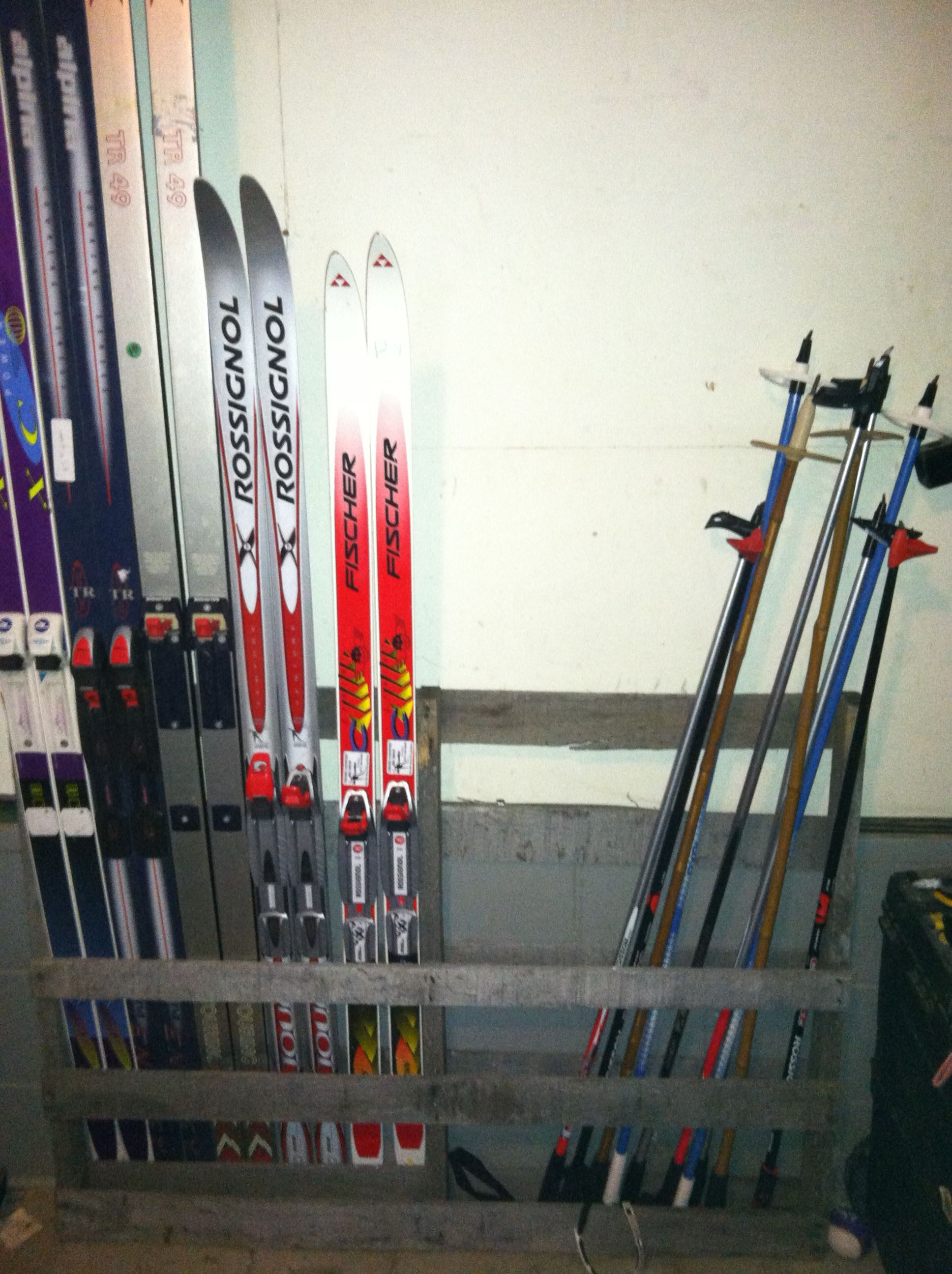 Wood Pallet Transformed Into Our Ski Rack