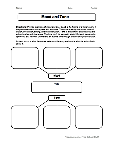 graphic organizer for setting and mood