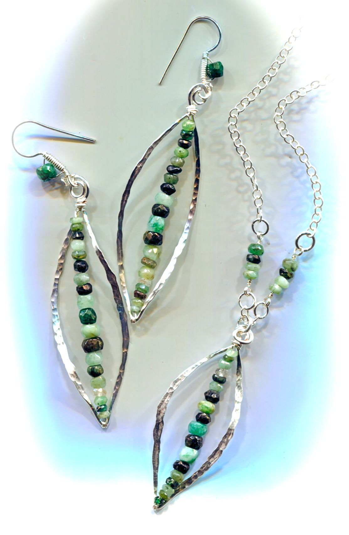 Whammered Leaf jewellery by Linda Jones