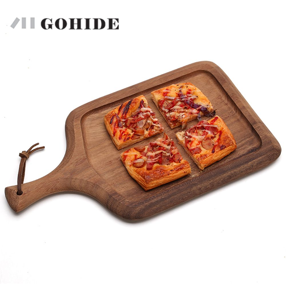 JUH A Wood Cake Plate Wood Pizza Plate Baby Food Supplement Bread Board Mini Chopping Board  sc 1 st  Pinterest & JUH A Wood Cake Plate Wood Pizza Plate Baby Food Supplement Bread ...
