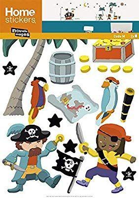 vente discount le plus en vogue coût modéré Stickers Mural enfants Les pirates (KALOU ) Nouvelles Images ...