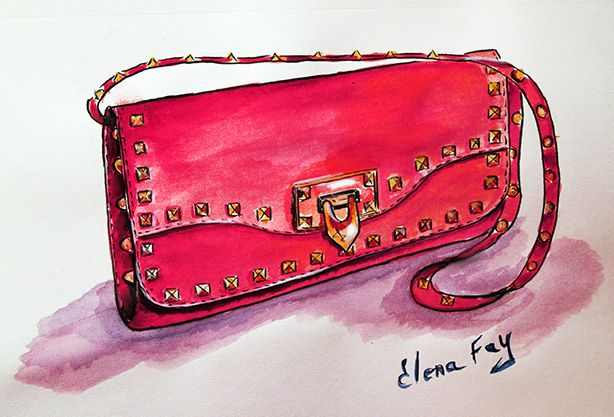 giveaway: beautiful clutch & bracelet combo | art-shoes ... backpack purse diagram watercolor purse diagram #1