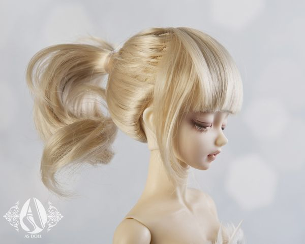 How To Make A Bjd Ponytail Wig Google Search Wigs Ponytail