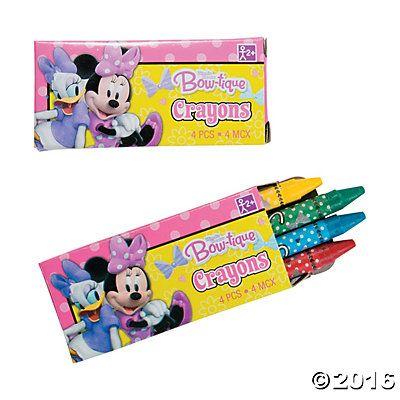 Minnie Bowtique Crayons