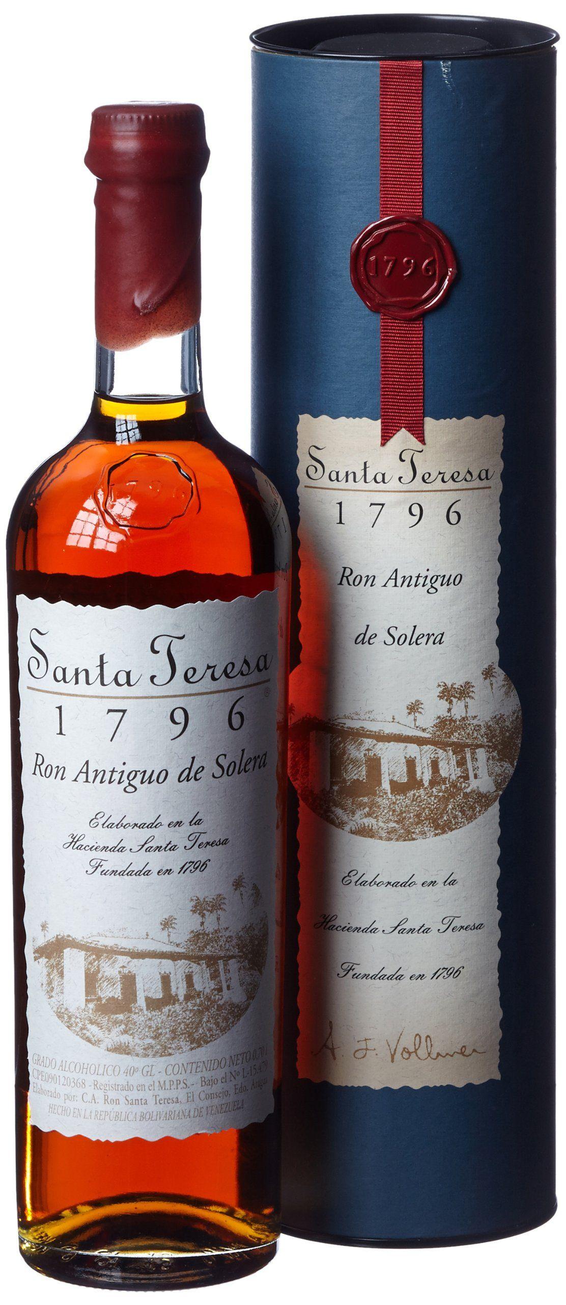 Santa Teresa Rum 1796 70cl Amazon Co Uk Grocery Rum  # Muebles Para Guardar Whisky
