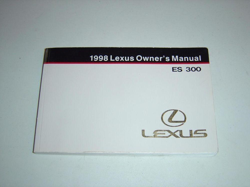 1998 lexus es 300 owners manual book guide owners manuals rh pinterest com lexus es 300 owners manual 1996 lexus is300 owners manual pdf