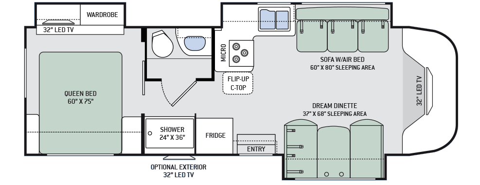 Class b motorhome floor plans floor matttroy for Floor plans for motorhomes
