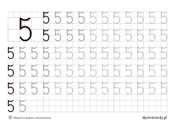 Nauka pisania cyferek dla dzieci – szablony z dużą ...