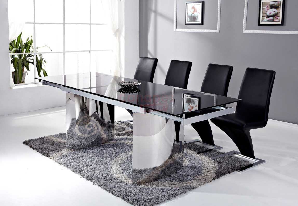 salle a manger noir laqu awesome table
