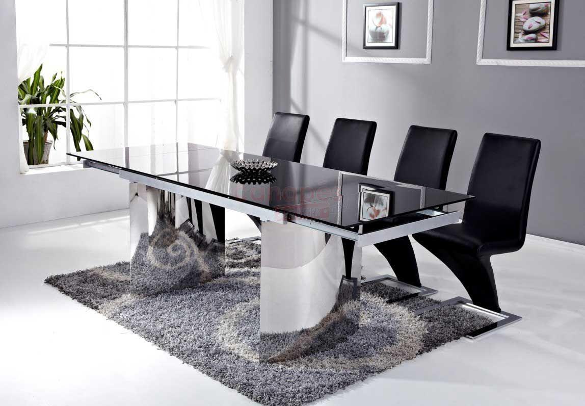 Salle A Manger Noir Laqu Awesome Table Design Conforama