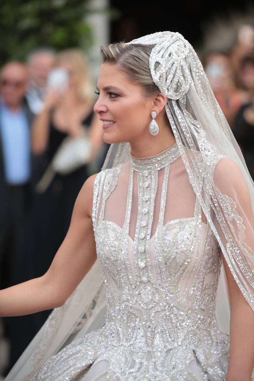 Eine Million Pailletten für Christina Mourad, die im Libanon Elie Saab Jr. heiratete   – Bridal
