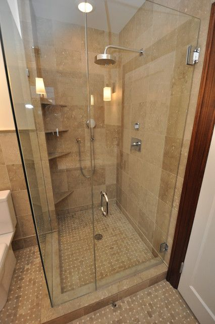 Corner shower ideas for small bathroom. This would be awesome for ...
