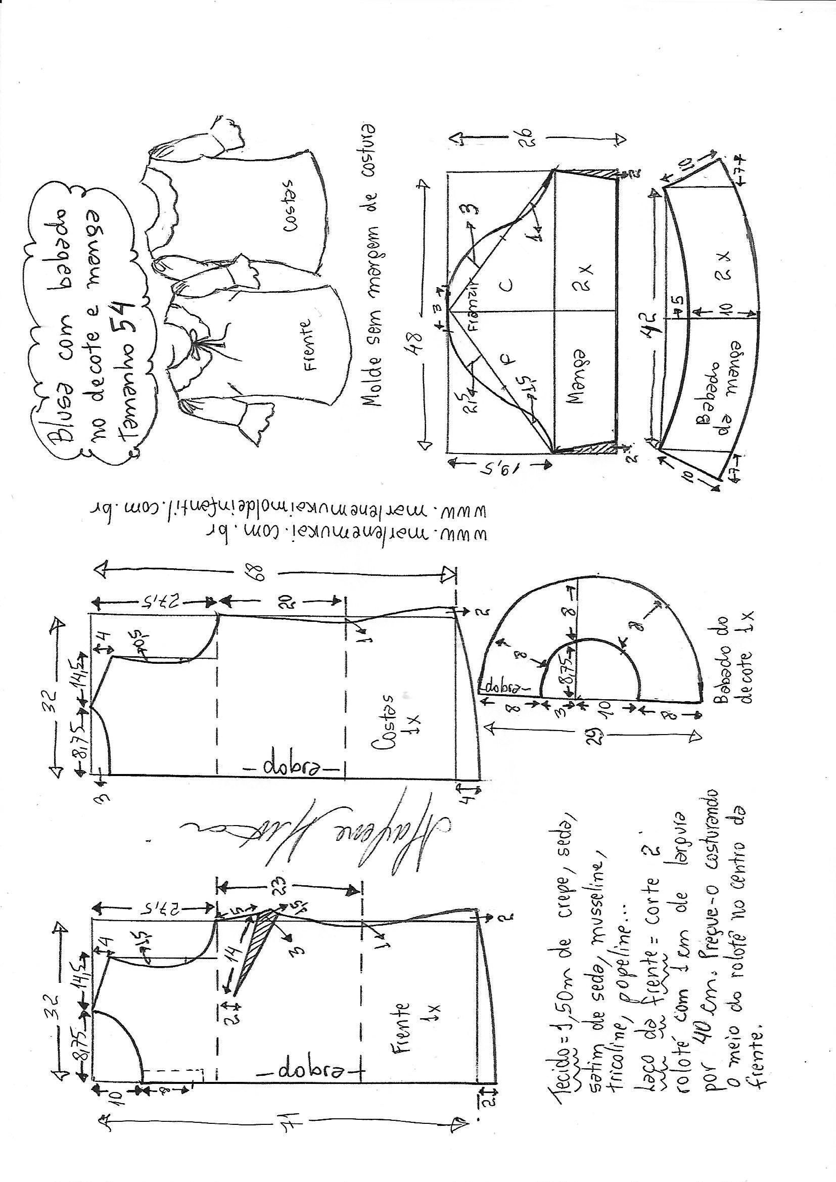 Pin de Aylen en Patrones de costura | Pinterest | Blusas, Trucos ...