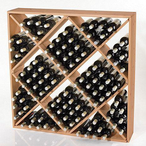 Jumbo Bin 120 Bottle Wine Rack (Natural) at Wine Enthusiast - $169.95