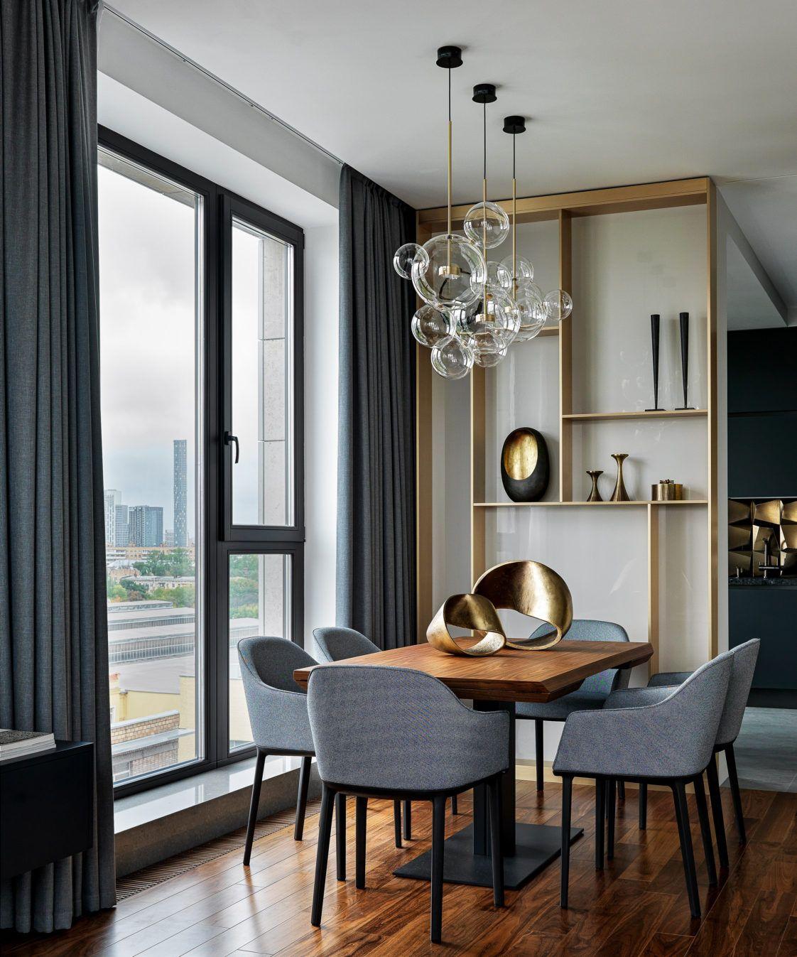 Квартира в серых тонах, 100 м²