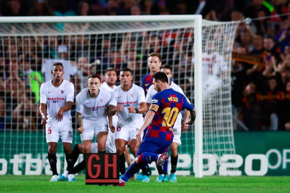 Barcelona 4 0 Sevilla Lionel Messi Messi Leo Messi
