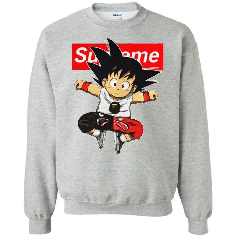 Supreme DBZ Hypebeast Goku Sweatshirt in 2019 | Supreme