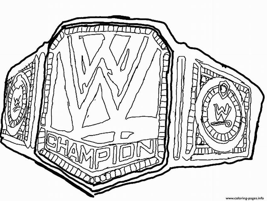 Image Result For Wwe Belts Coloring Pages Printable Wwe Coloring Pages Wwe Belts Sports Coloring Pages