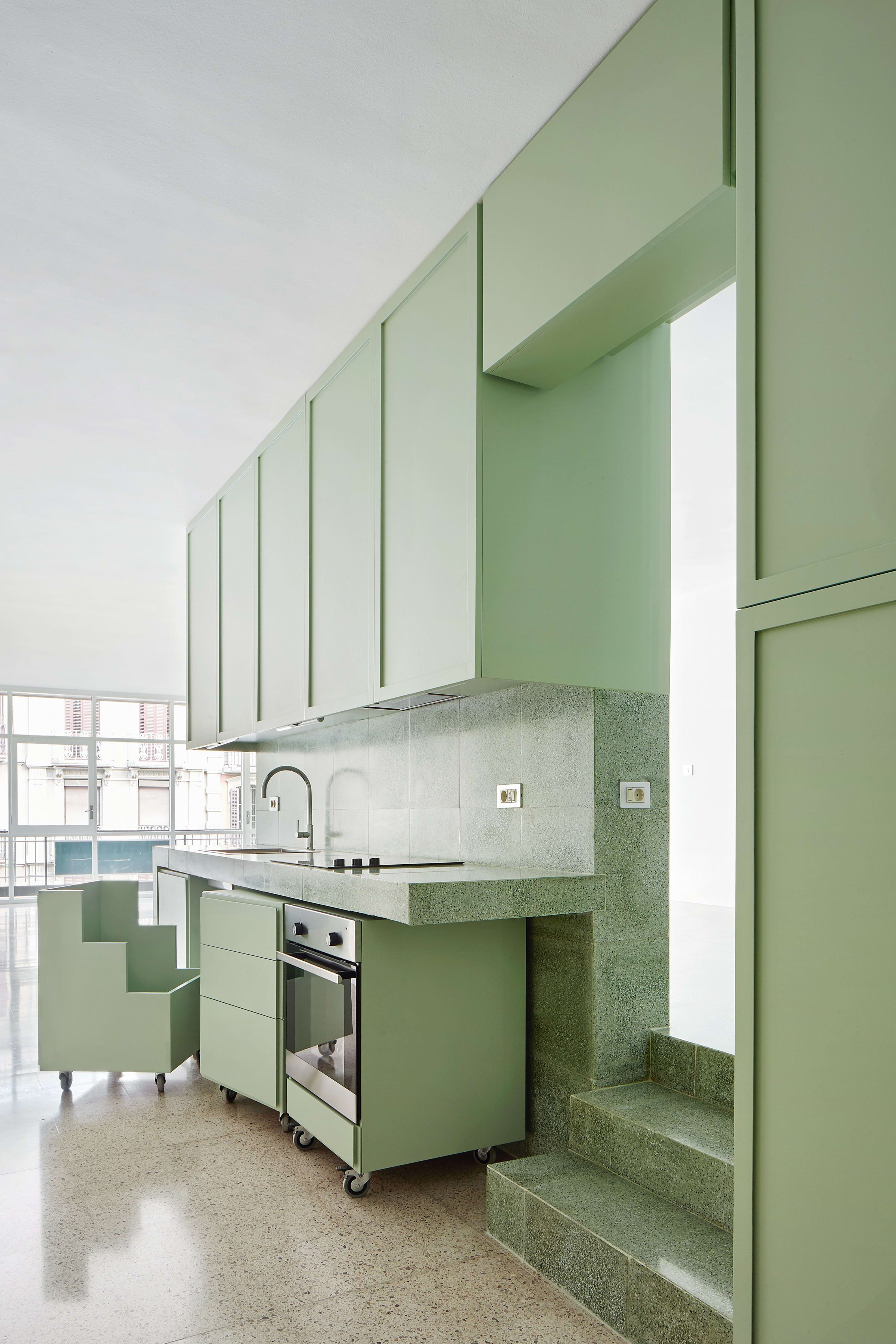Arquitecturag José Hevia · Refurbishment Of A Flat On The Magnificent Kitchen Design For Flats Decorating Design