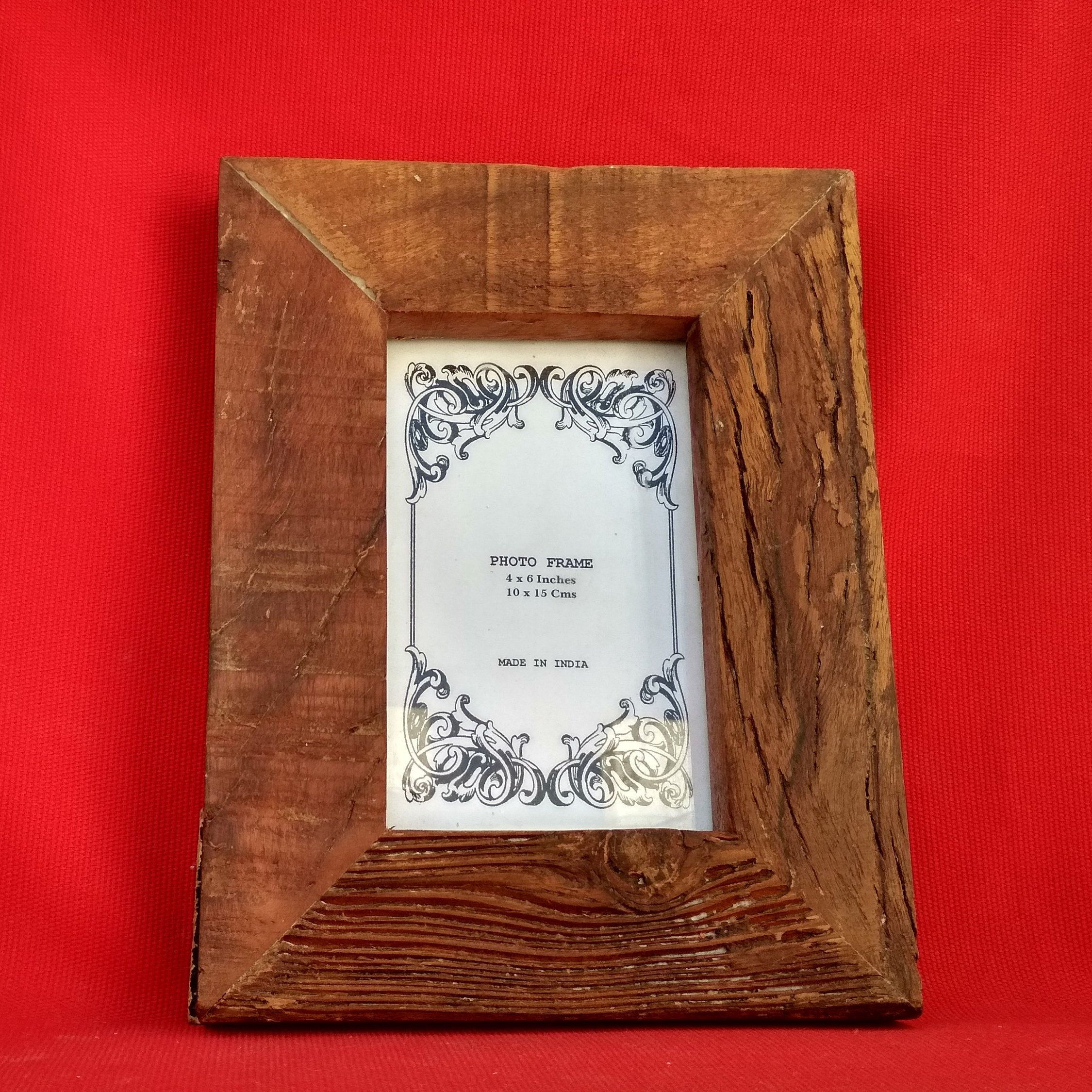 "4"" x 6"" Indian Handicraft Wooden Photo Frame Home"