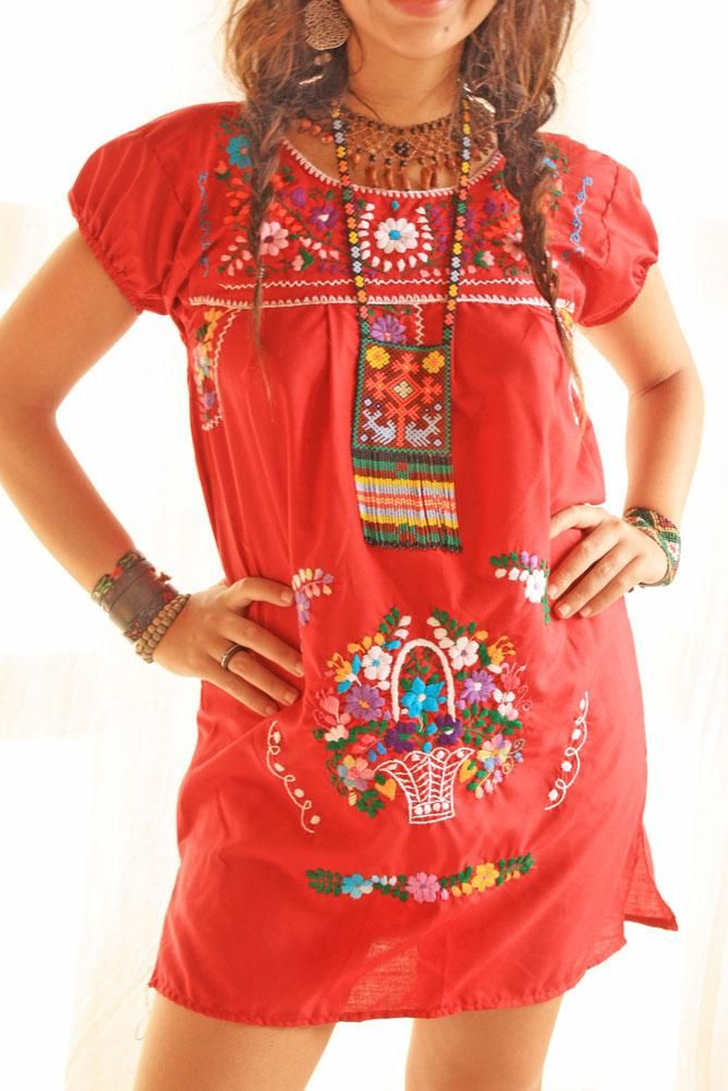 a857db85c39fe mexican dresses | Home / Mexicana Love mini embroidered Mexican dress