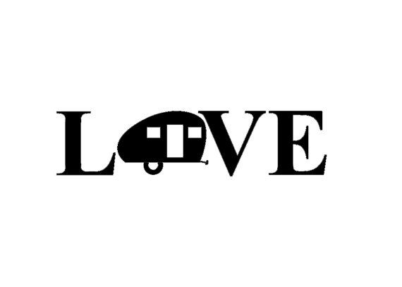 Teardrop Style Camper Love Decal Great For Showing Off Your Love