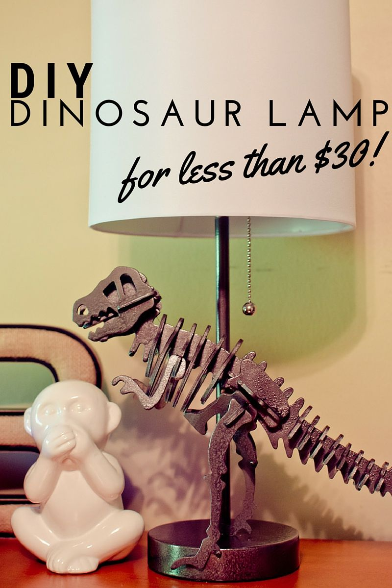 You can make this dinosaur lamp for less than $30! #dinosaurnursery