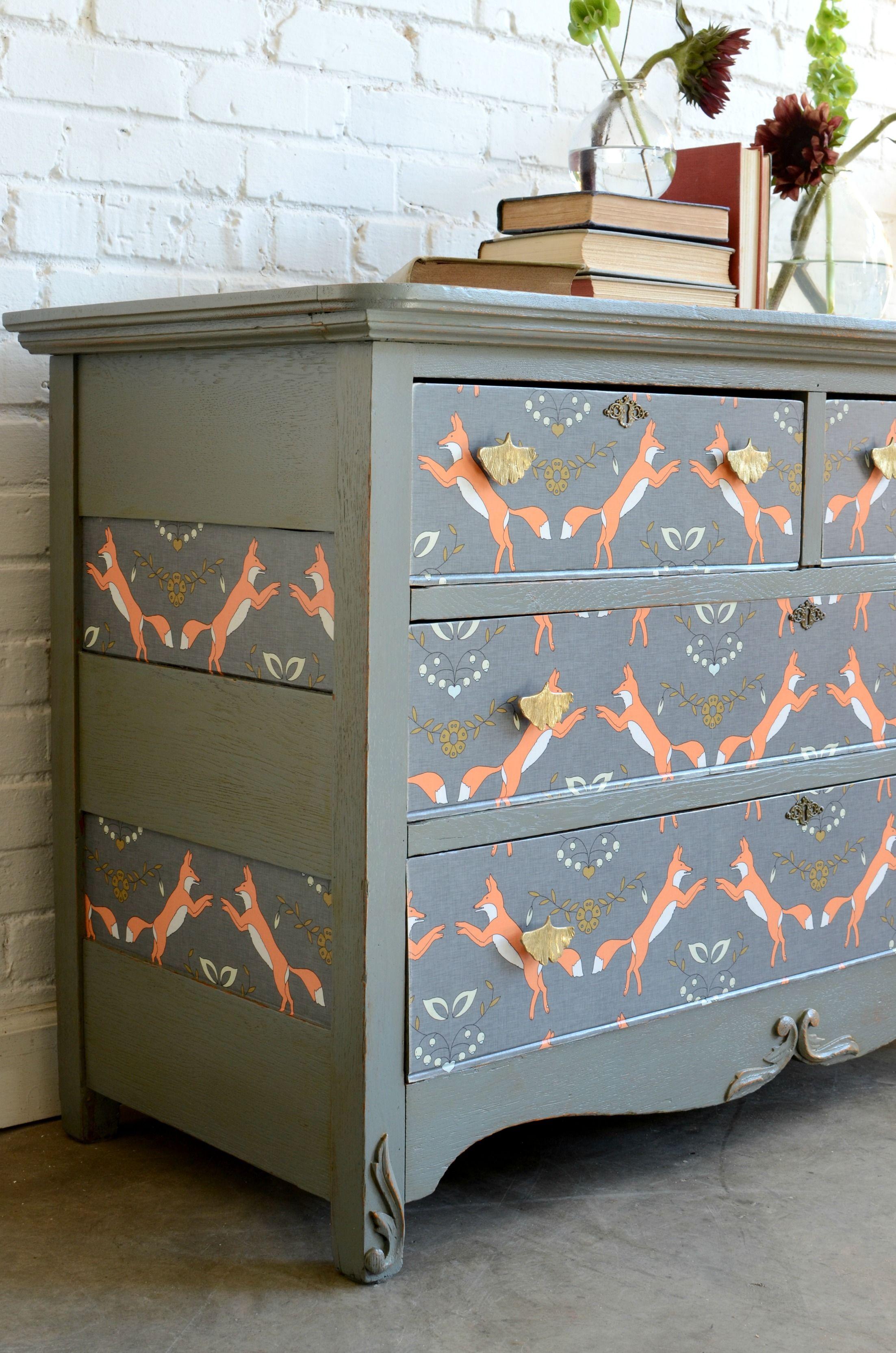 Fox Wallpaper On A Dresser