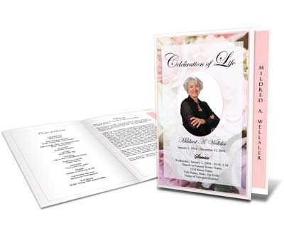 This Celebration of Life Sample Program has an oval cover photo - sample program templates