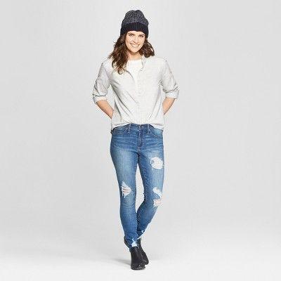 0c40625c Women's Long Sleeve Camden Button-Down Shirt - Universal Thread Cream Xxl,  White