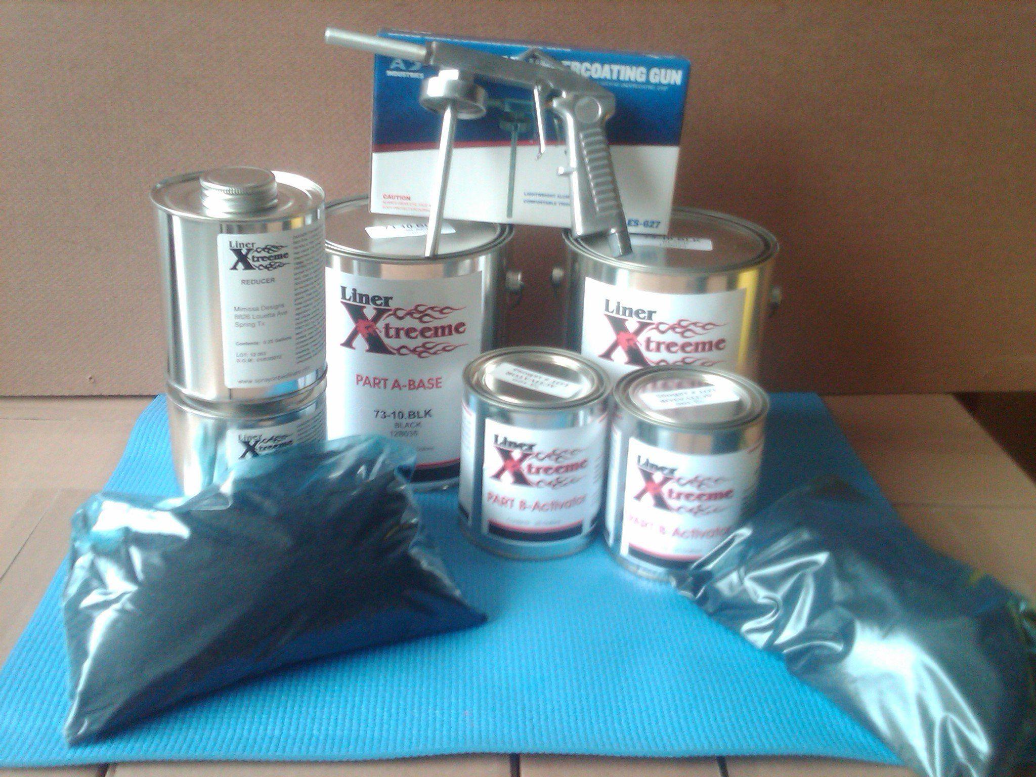 Linerxtreeme spray on Bedliner Kit 3 gallon Black with GUN