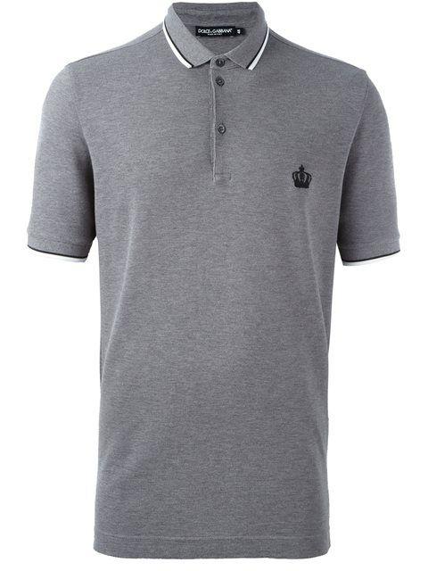 9073e226ac DOLCE   GABBANA embroidered crown polo shirt.  dolcegabbana  cloth  shirt