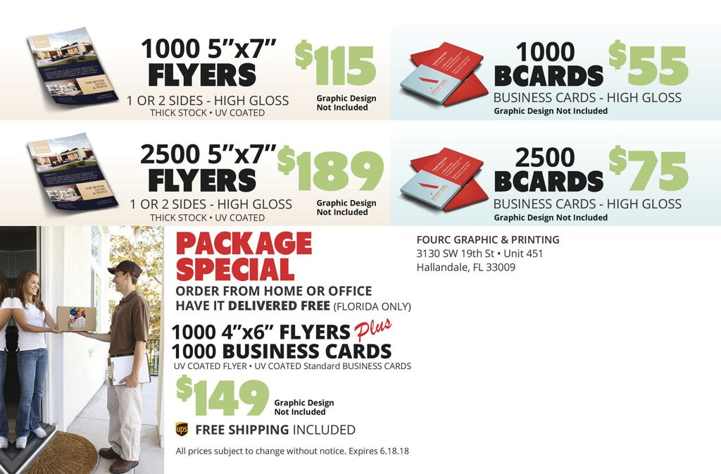 Save with our Printing Package Special - 1,000 Business Card and ...