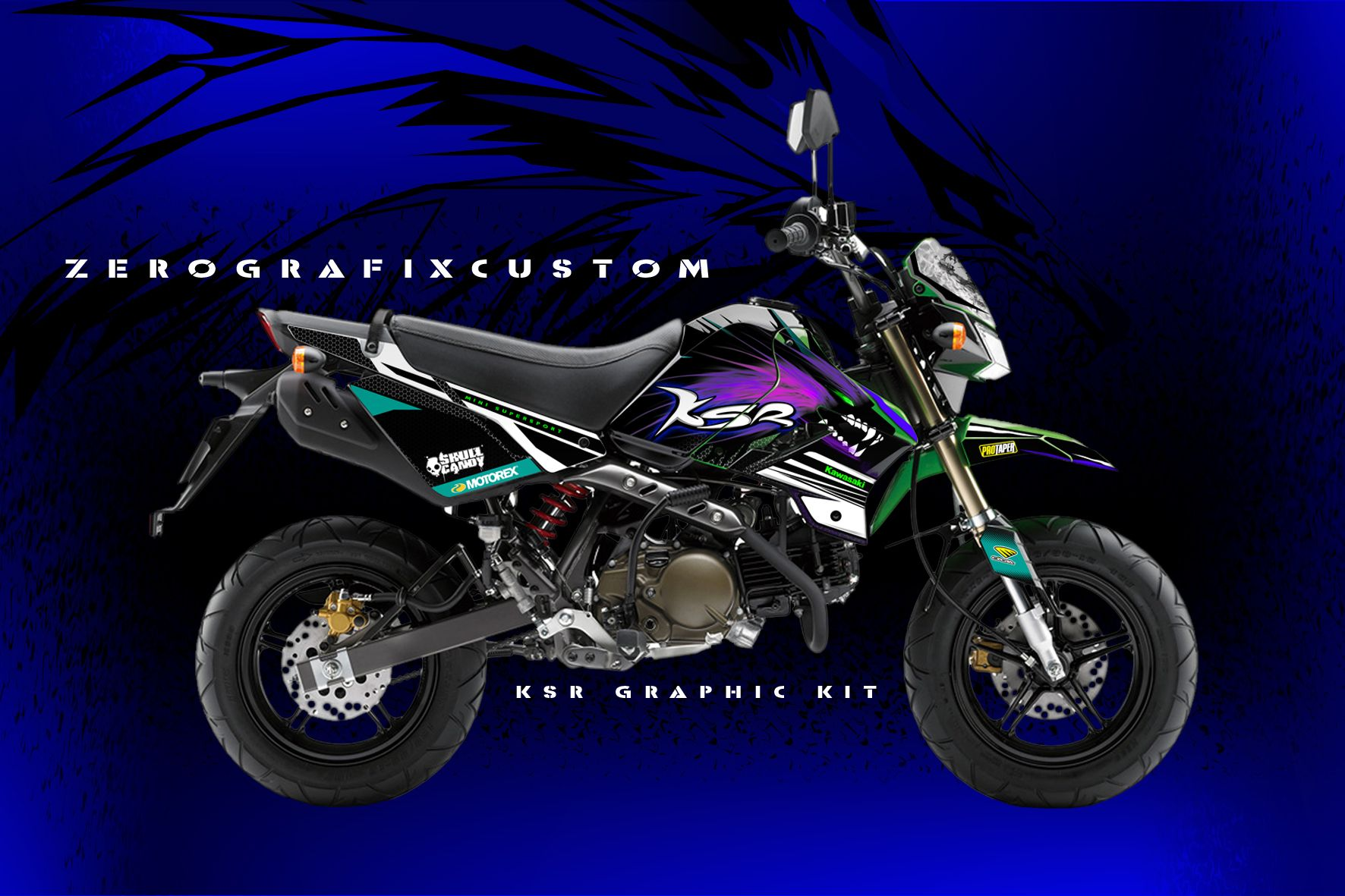 Decal kit kawasaki ksr 110digital printing sticker