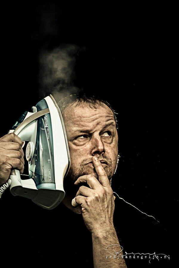 Male portrait. Iron Man Model name; André. Photographed by Remy van de Geijn.