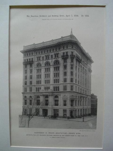 Metropolitan Life Insurance Building on Madison Sq. and ...