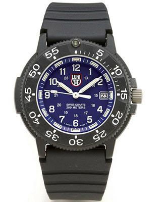 27b57992b Luminox Men's Series 1 Navy SEAL Dive Watch - Blue Face - Rubber Strap
