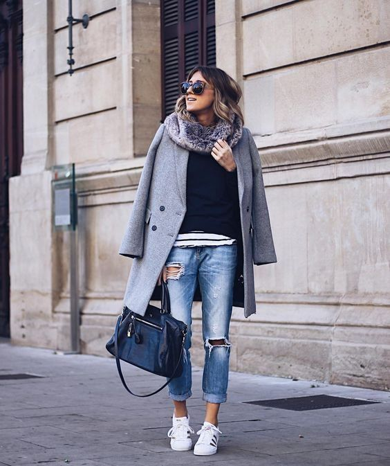 7ee8a293799 Style Tips On What To Wear With Your Grey Coat - Grey Coat Outfits ...