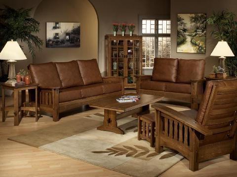 Mission Style Living Room Sets Decor Design Pinterest Wood Furniture Living Room